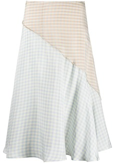 Acne Studios checked panelled high-waisted skirt