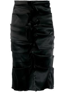 Acne Studios uneven horizontal side pleats skirt