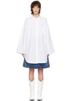 Acne Studios White Blå Konst Mazion Shirt