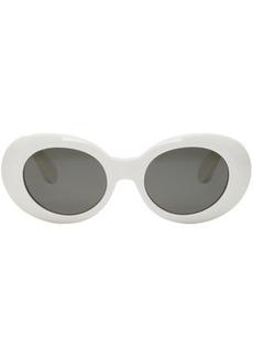 Acne Studios White Mustang Round Sunglasses