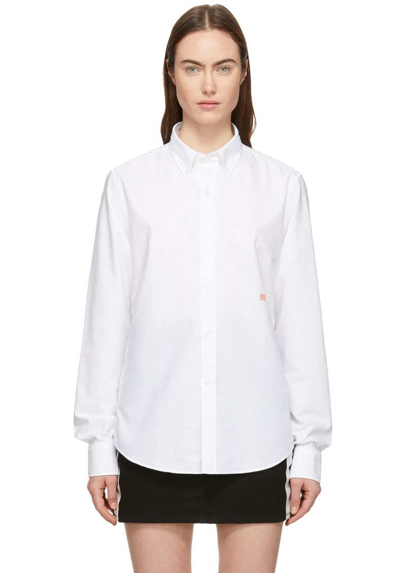 Acne Studios White Ohio Face Shirt