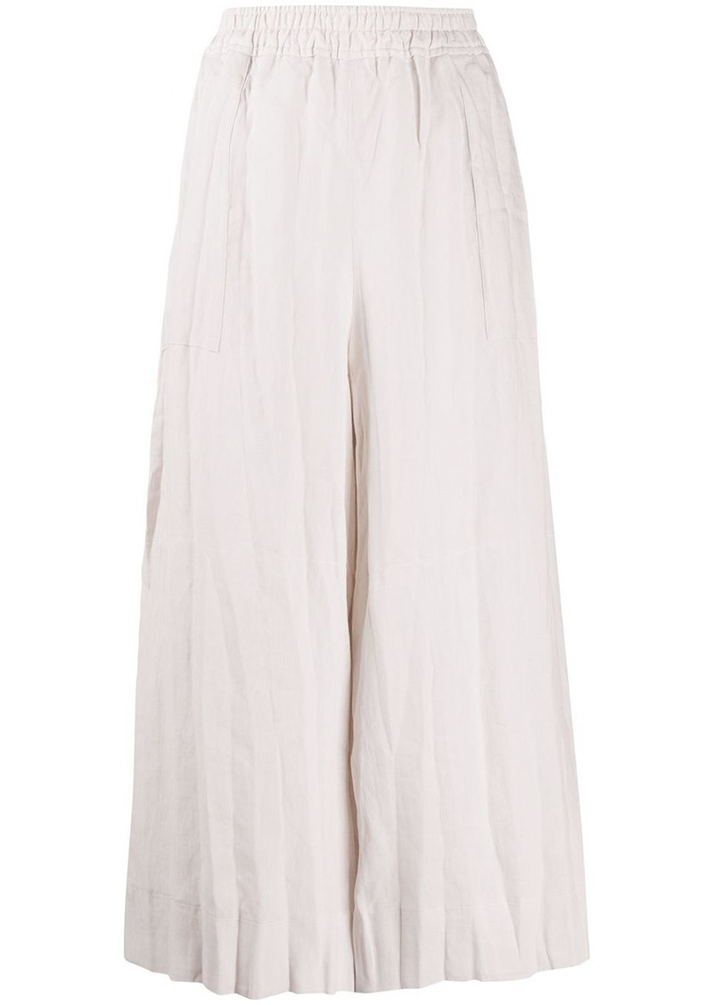 Acne Studios wrinkled-effect pleated culottes