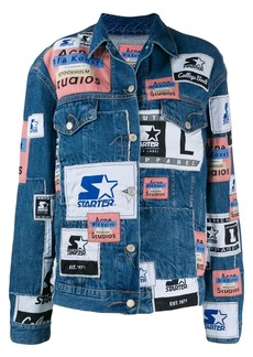 Acne Studios X Starter 2000 patchwork denim jacket