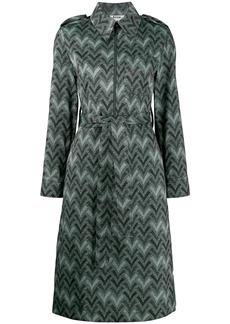 Acne Studios zig zag print shirt dress
