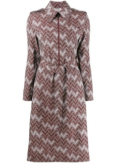 Acne Studios zigzag print shirt dress