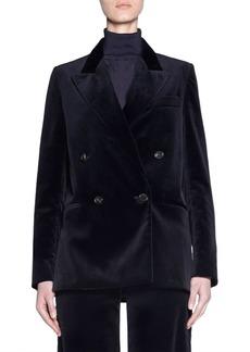 Acne Studios Velvet Double-Breasted Jacket