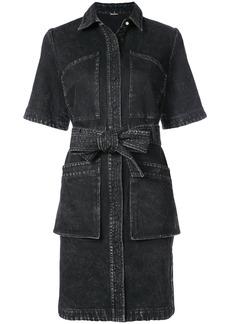 Adam Lippes acid wash shirt dress - Black