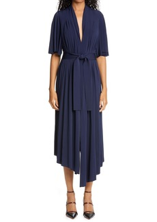 Adam Lippes Asymmetrical Stretch Jersey Midi Dress