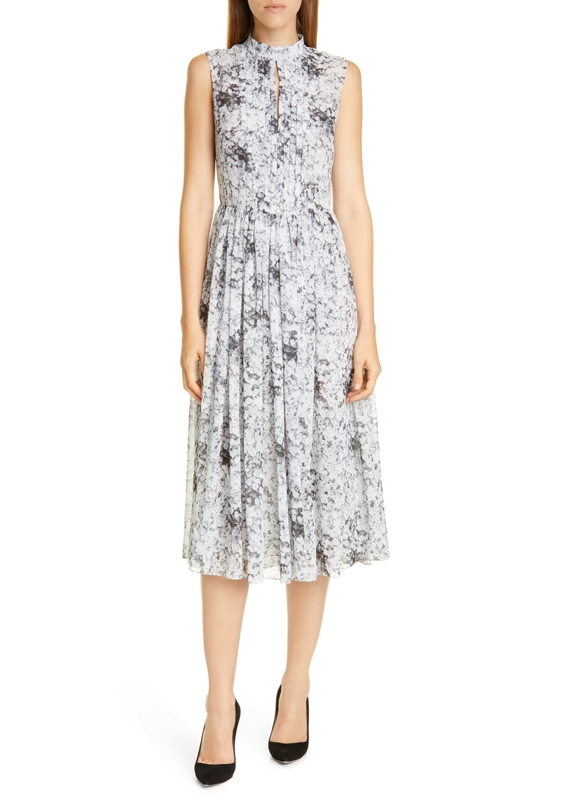 Adam Lippes Baby's Breath Print Midi Dress