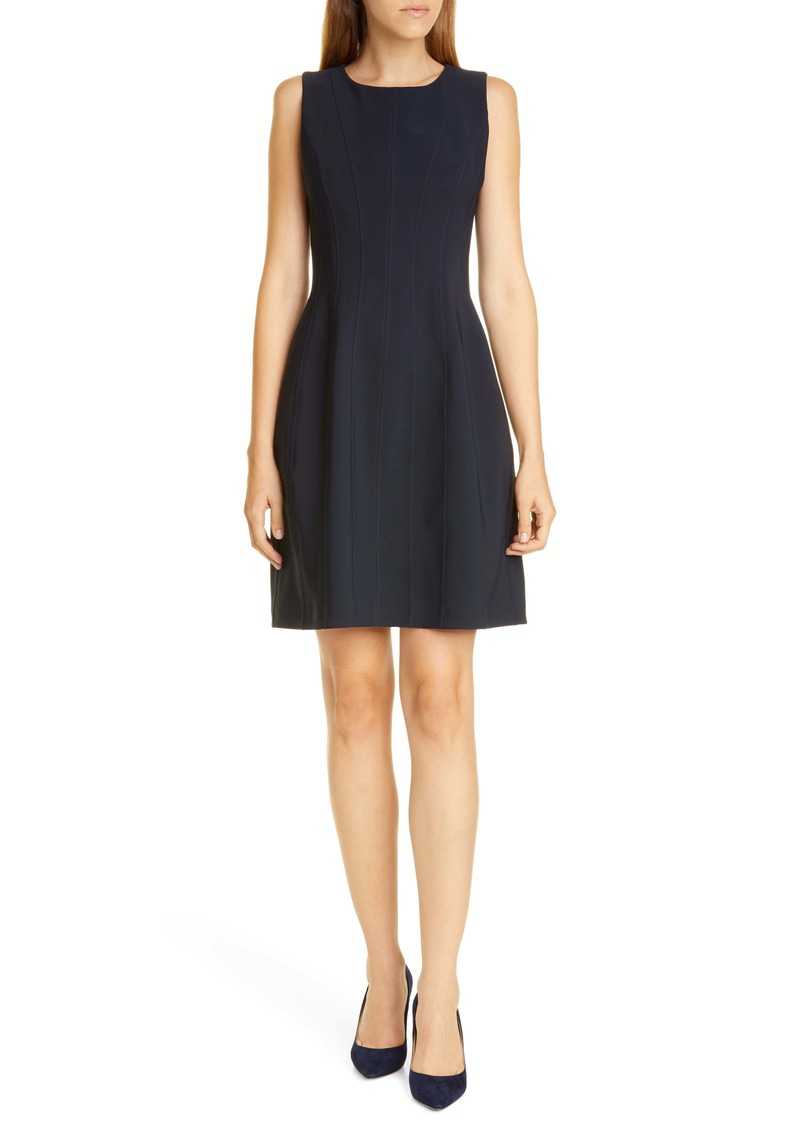 Adam Lippes Bonded Neopene Fit & Flare Dress