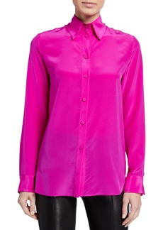 Adam Lippes Button-Front Blouse