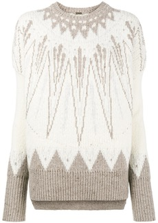 Adam Lippes Fair Isle chunky sweater - Nude & Neutrals