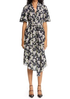 Adam Lippes Floral Asymmetrical Cotton & Silk Dress