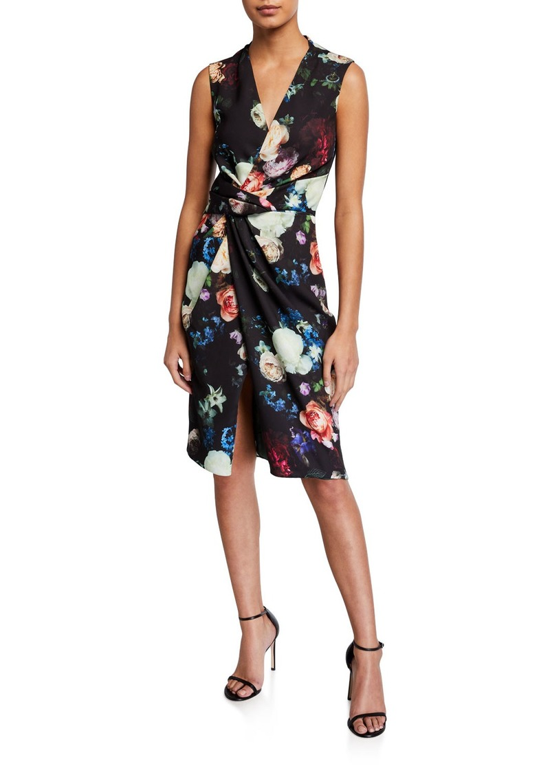 Adam Lippes Floral Crepe de Chine Dress