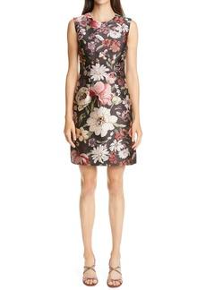 Adam Lippes Floral Jacquard Sheath Dress