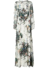 Adam Lippes floral print A-line gown