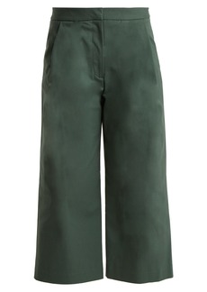 Adam Lippes High-waisted stretch-cotton culottes