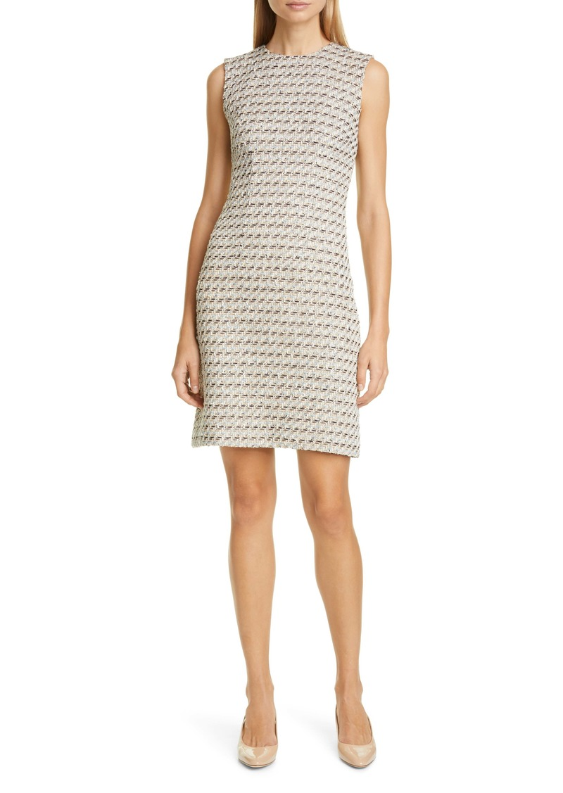 Adam Lippes Metallic Tweed Sheath Dress