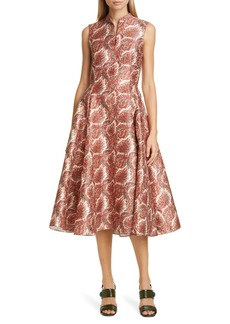 Adam Lippes Paisley Jacquard Fit & Flare Dress