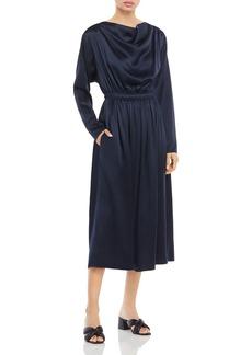 Adam Lippes Silk Cowl Neck Midi Dress