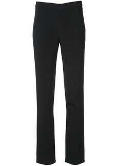 Adam Lippes Stretch cady side zip cigarette trousers