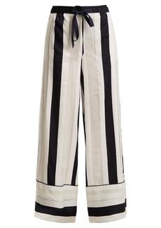 Adam Lippes Striped-jacquard trousers