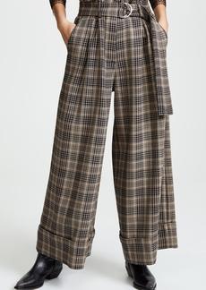 Adam Lippes Tie Waist Wide Leg Culottes
