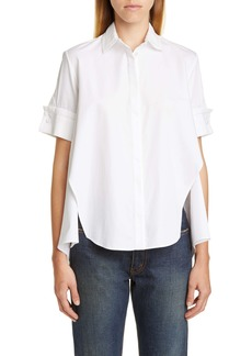 Adam Lippes Trim Cotton Poplin Trapeze Shirt