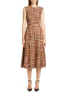 Adam Lippes Tweed Fit & Flare Dress