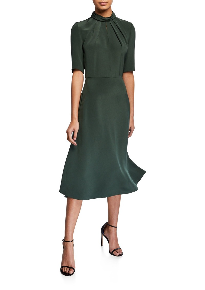 Adam Lippes Twisted-Neck Dress