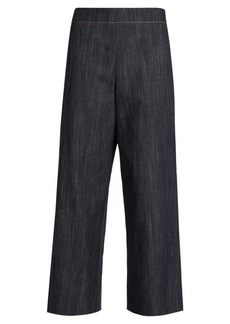 Adam Lippes Wide-leg cropped jeans