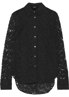 Adam Lippes Woman Cotton-blend Corded Lace Shirt Black