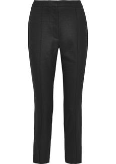 Adam Lippes Woman Cropped Canvas Slim-leg Pants Black