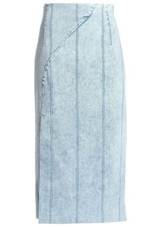 Adam Lippes Woman Denim Midi Skirt Light Denim