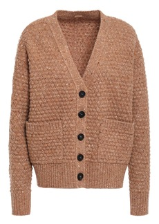 Adam Lippes Woman Donegal Wool And Cashmere-blend Cardigan Camel
