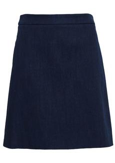 Adam Lippes Woman Flared Denim Mini Skirt Dark Denim