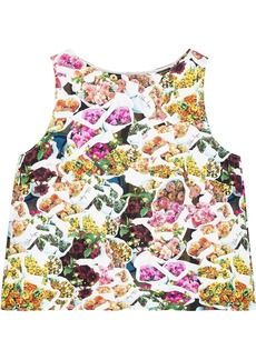 Adam Lippes Woman Floral-print Cotton And Silk-blend Faille Top Multicolor