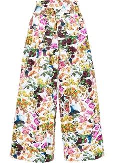Adam Lippes Woman Floral-print Cotton And Silk-blend Faille Wide-leg Pants Multicolor