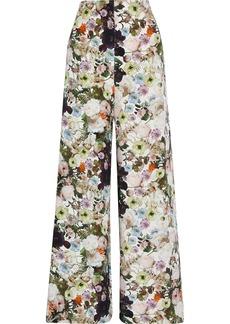 Adam Lippes Woman Floral-print Silk-crepe Wide-leg Pants Multicolor