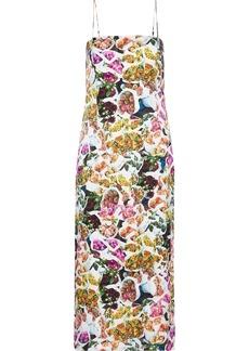 Adam Lippes Woman Floral-print Silk Midi Dress Multicolor