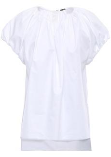 Adam Lippes Woman Gathered Cotton-poplin Blouse White
