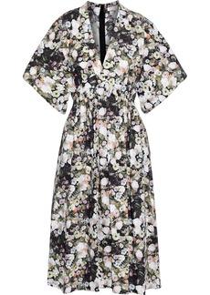 Adam Lippes Woman Gathered Floral-print Cotton-poplin Dress Multicolor