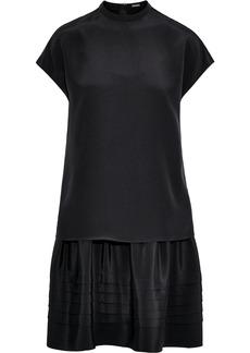 Adam Lippes Woman Layered Silk-crepe Mini Dress Black