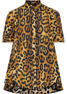 Adam Lippes Woman Leopard-print Cotton-poplin Shirt Animal Print