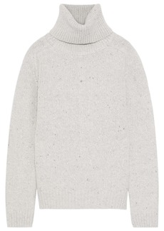 Adam Lippes Woman Marled Wool And Cashmere-blend Turtleneck Sweater Light Gray