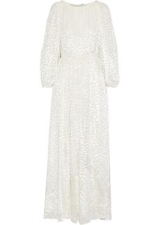 Adam Lippes Woman Metallic Devoré-velvet Gown Off-white
