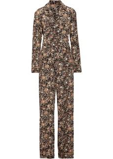 Adam Lippes Woman Metallic Floral-print Silk-twill Jumpsuit Multicolor