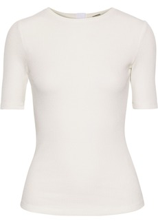 Adam Lippes Woman Ribbed Stretch-modal Top Ivory