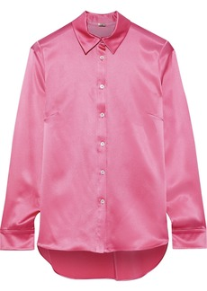 Adam Lippes Woman Silk-charmeuse Shirt Pink