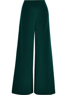 Adam Lippes Woman Silk-crepe Wide-leg Pants Emerald